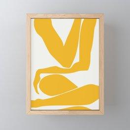 Yellow anatomy Framed Mini Art Print
