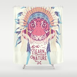 Learn from Nature Shower Curtain