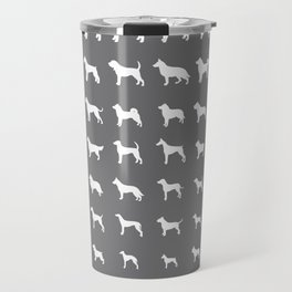 All Dogs (Grey/White) Travel Mug