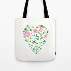 garden heart Tote Bag