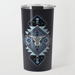 Vintage ethnic geometric hand drawn illustration Travel Mug