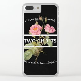Harry Styles Two Ghosts graphic design Clear iPhone Case