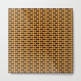 Brick (Orange, Dark Brown, and Light Brown) Metal Print