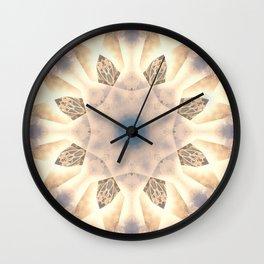 Mystical Petroglyphs Mandala Abstract Design Wall Clock