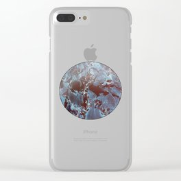 Marble in Blues and Browns Clear iPhone Case