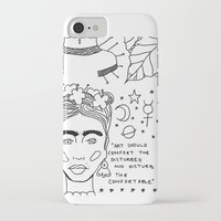 banksy iPhone & iPod Cases featuring Kahlo x Banksy by ☿ cactei ☿