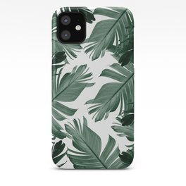Tropical Banana Leaves Pattern #3 #tropical #decor #art #society6 iPhone Case
