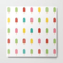 Popsicle Pattern - Retro #754 Metal Print