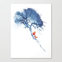 calm Canvas Prints featuring There's no way back by Robert Farkas