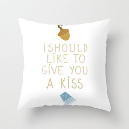 "Kisses - Quote from ""Peter Pan"" Throw Pillow"