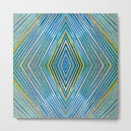 colorful diamond shapes Metal Print