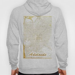 Adelaide Map Gold Hoody