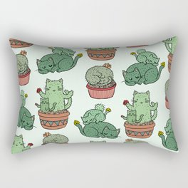 Cacti Cat pattern Rectangular Pillow