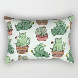 Cacti Cat pattern Rectangular Pillow