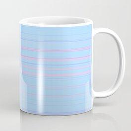 Sky Blue & Light Pink Candy Lines Coffee Mug