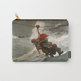 The Life Line by Winslow Homer, 1884 Carry-All Pouch