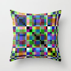 Pastel Party - Abstract, geometric, pastel artwork Throw Pillow