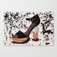 shoe Canvas Prints featuring Shoe by Melania B