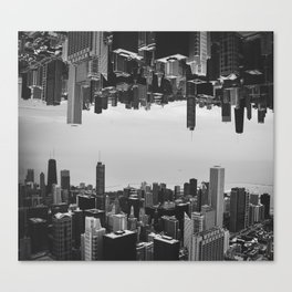 Chicago Double Exposure Canvas Print