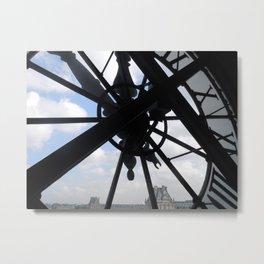 Clock in the Musee d'Orsay Metal Print