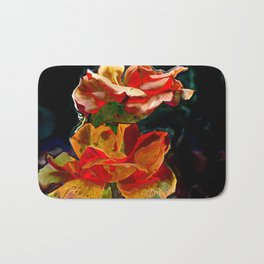Romantic Flowers Bath Mat
