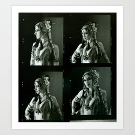 Old Contact Sheet of Rachel Brice 2 Art Print