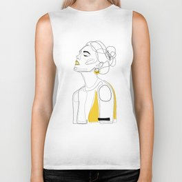 Yellow Lip Biker Tank