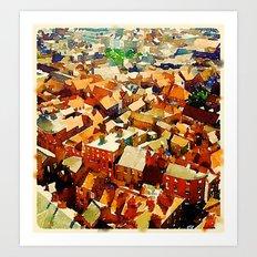 Rooftops in York Art Print