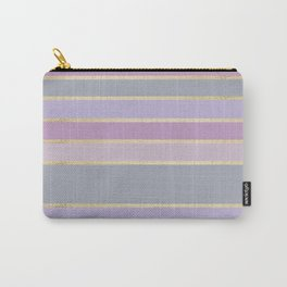 Modern geometric trendy gold pink tones color pallet Carry-All Pouch