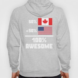 Awesome Canadian American Hoody