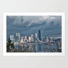 Seattle's shades of gray Art Print