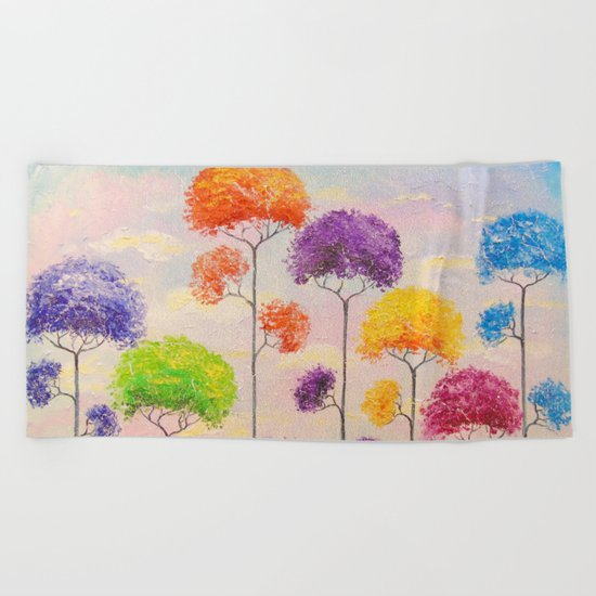 Melody of the trees Beach Towel