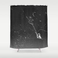 spider Shower Curtains featuring Spider by Autumn Steam
