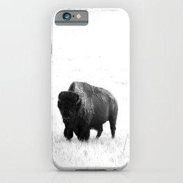 A Bison - Monochrome iPhone Case