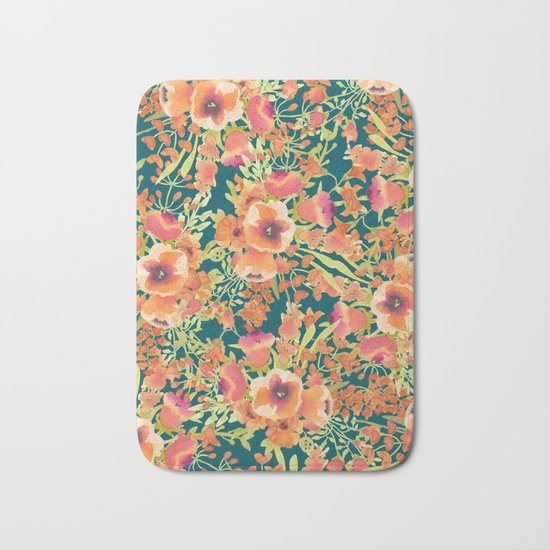 Floral Bunch #society6 #decor #buyart Bath Mat