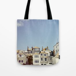 St. Ives house with tilt and shift view. Tote Bag