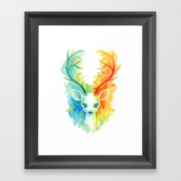 Feather Fawn Framed Art Print