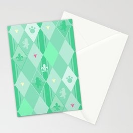 Green Lily Bear Stationery Cards