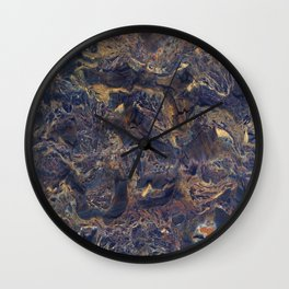 Midnight blue with Desert Sand Wall Clock