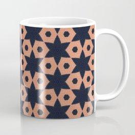 corail and black fabric Coffee Mug
