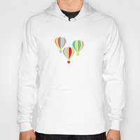 hot air balloons Hoodies featuring Hot Air Balloons by Jessica Draws