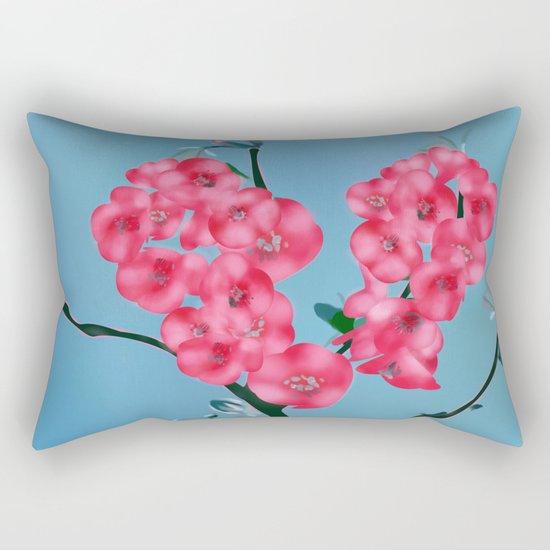 Heart Blooming Flowers Rectangular Pillow