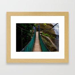 Swinging Bridge -Guam Framed Art Print