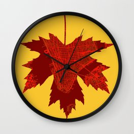 Maple in New York Wall Clock