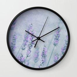 Lavender Blue Wall Clock