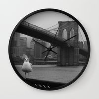dumbo Wall Clocks featuring dumbo by Gray