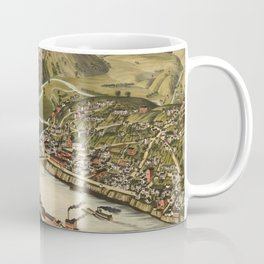 Vintage Pictorial Map of Brownsville PA (1883) Coffee Mug
