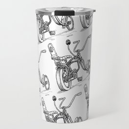 Cartoon Retro Mod 8-Ball Muscle Bike Bicycle Stingray Travel Mug