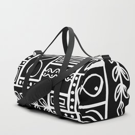 Fishes Seaweeds and Shells - Black Duffle Bag