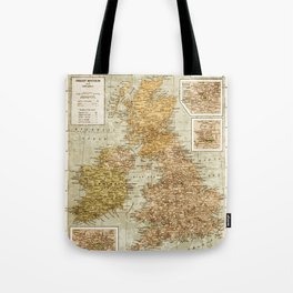 Vintage Map of Great Britain and Ireland, 1947 Tote Bag